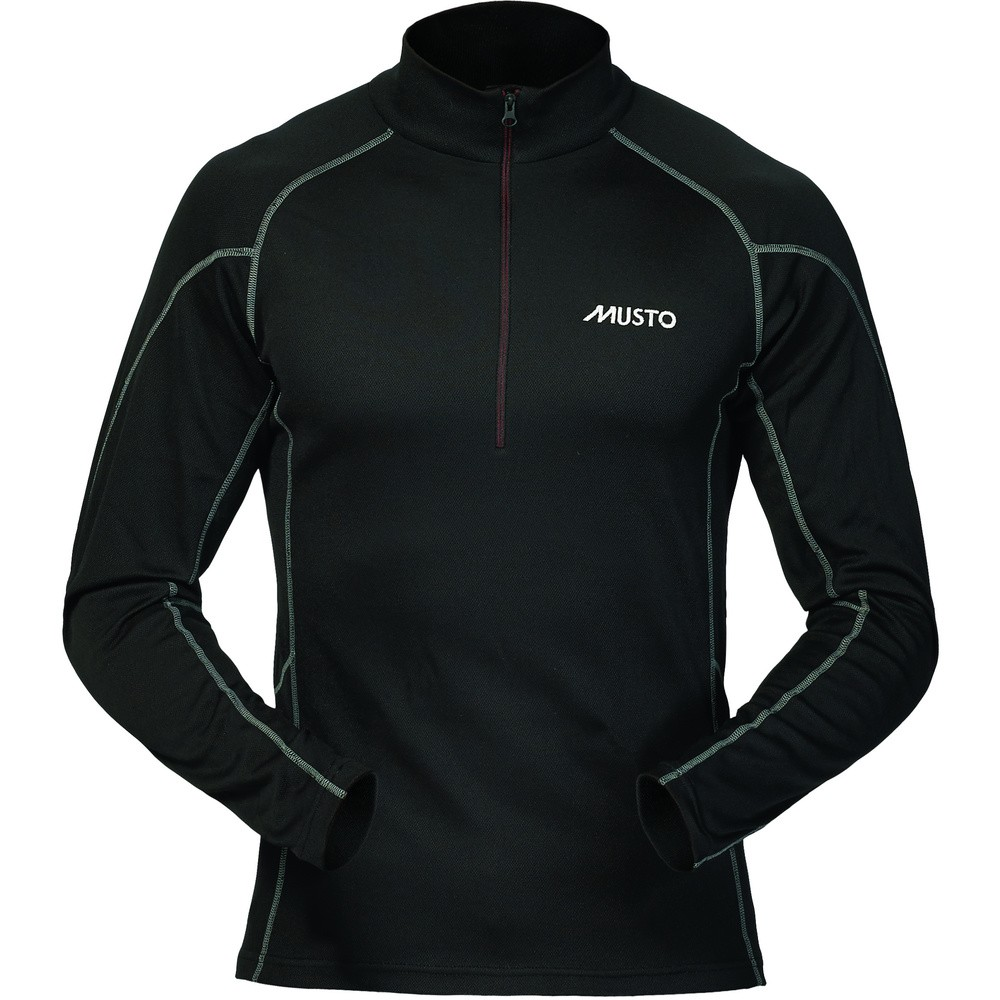 MUSTO Thermal Base-Layer Zip-Neck Shirt