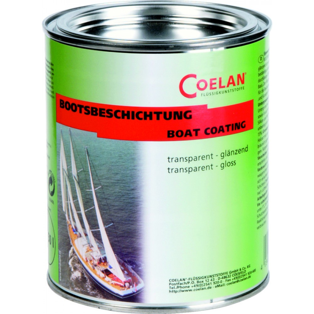 COELAN BOAT COATING Transparent Gloss Finish